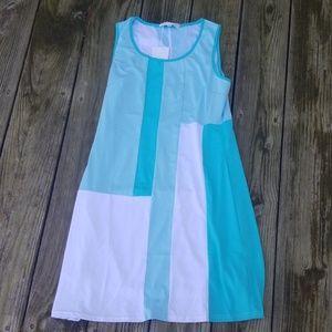 Minty patchwork bodycon dress